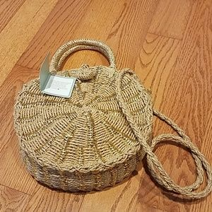 Ivy London Round Woven Handbag